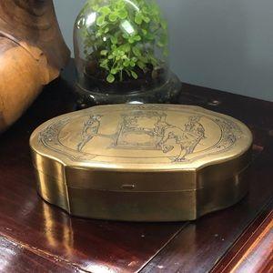Vintage Brass Fairy Tale Box